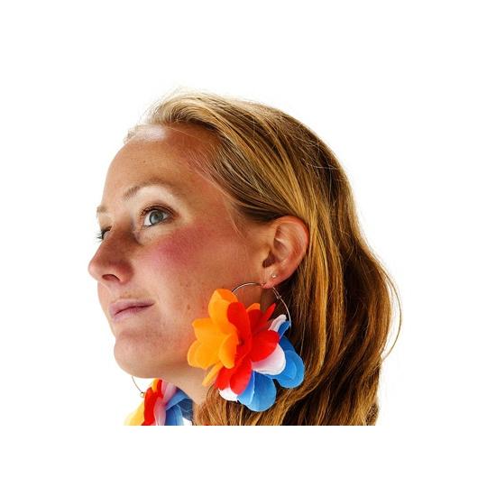Koningsdag Bloem oorbellen Holland