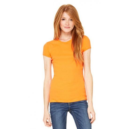 Koningsdag Dames t shirt ronde hals oranje
