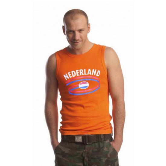 Koningsdag Oranje heren singlet Nederland