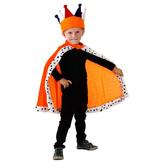Koningsdag Oranje Konings cape voor kinderen