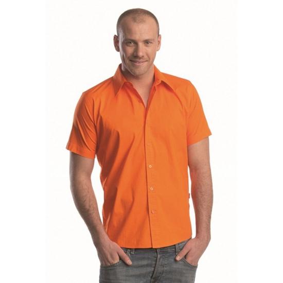 Koningsdag Oranje Lemon Soda overhemd voor heren