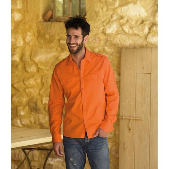 Koningsdag Oranje overhemd voor heren