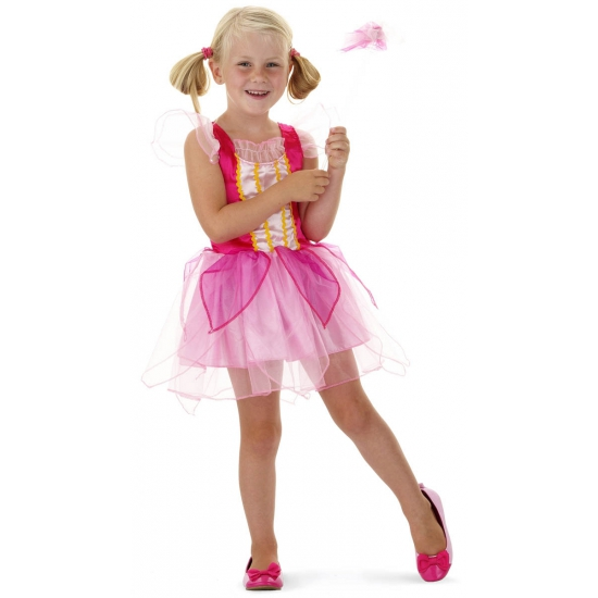 Kort roze prinsessen jurkje voor meisjes