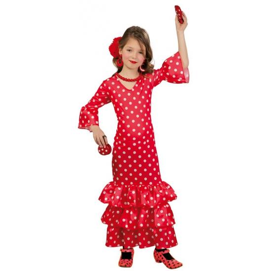 Lange Spaanse jurk voor meisjes