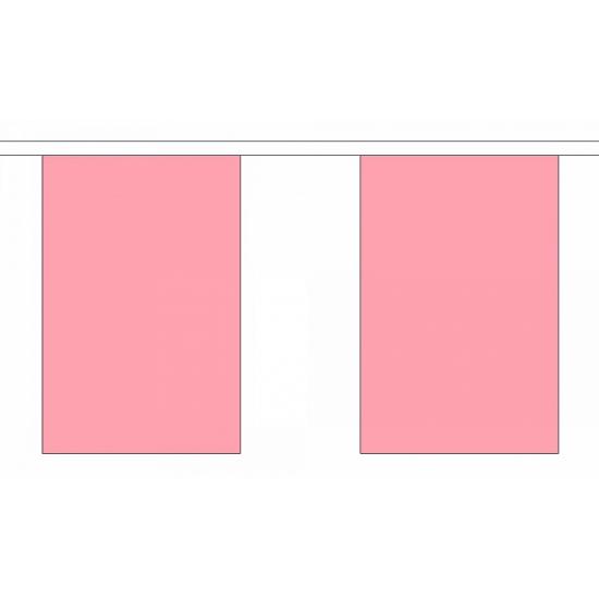 Luxe roze vlaggenlijn 9 m