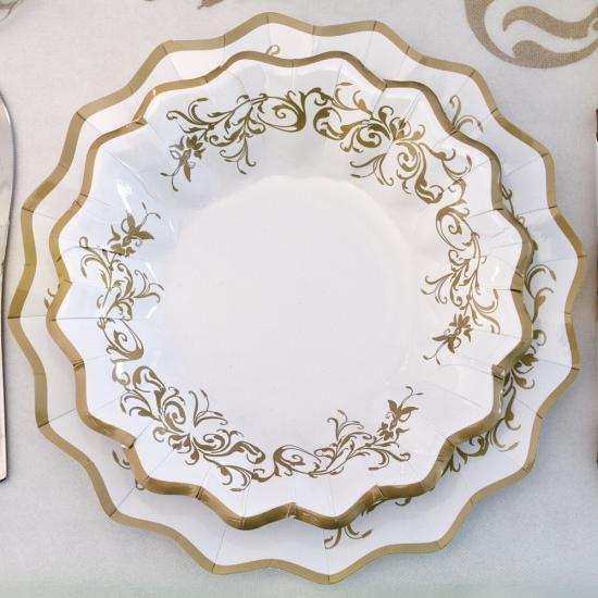 Luxe schaaltjes goud 24 cm