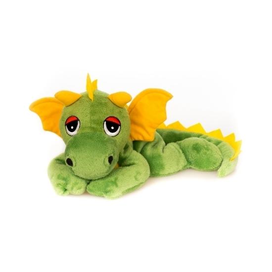 Magnetron warmte knuffel groene draak 18 cm