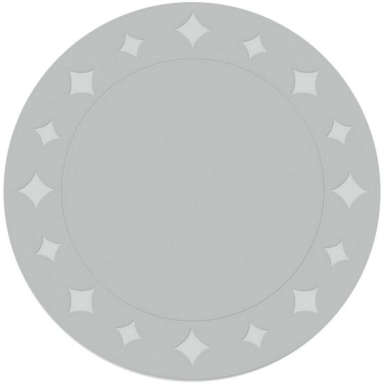 Metallic zilveren placemats 33 cm