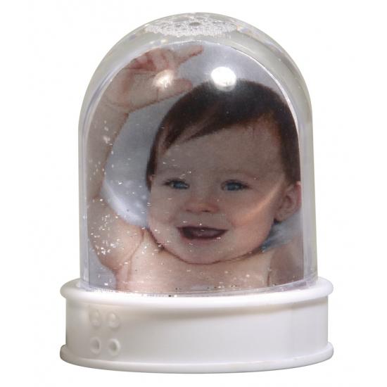Mini glitterbol met eigen foto