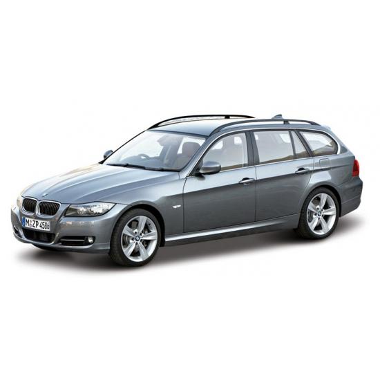 Modelauto BMW 3 serie station grijs metallic 1:24