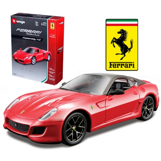 Modelauto Ferrari 599 GTO rood race & play kit 1:32