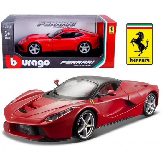 Modelauto Ferrari Laferrari rood 1:24