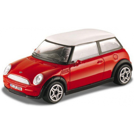 Modelauto Mini Cooper rood 1:43