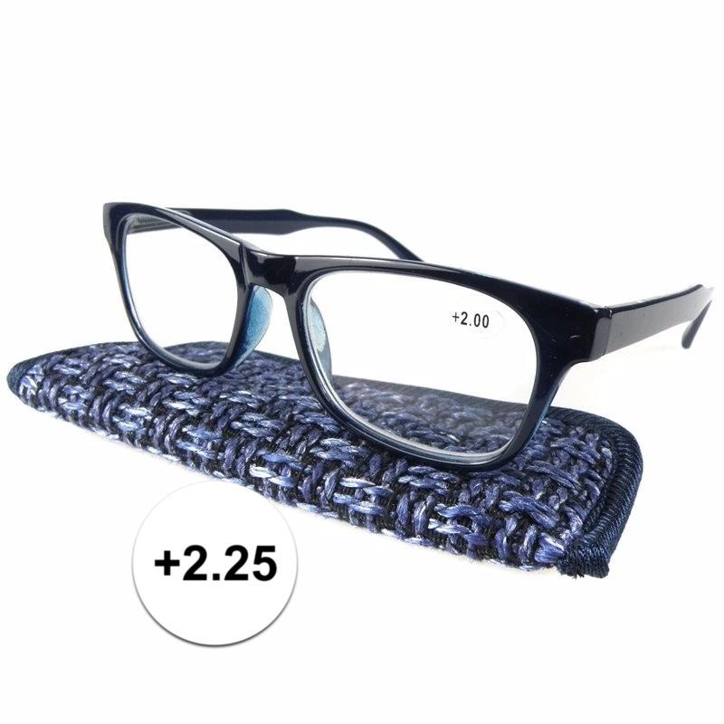 Modieuze leesbril 2.25 donkerblauw