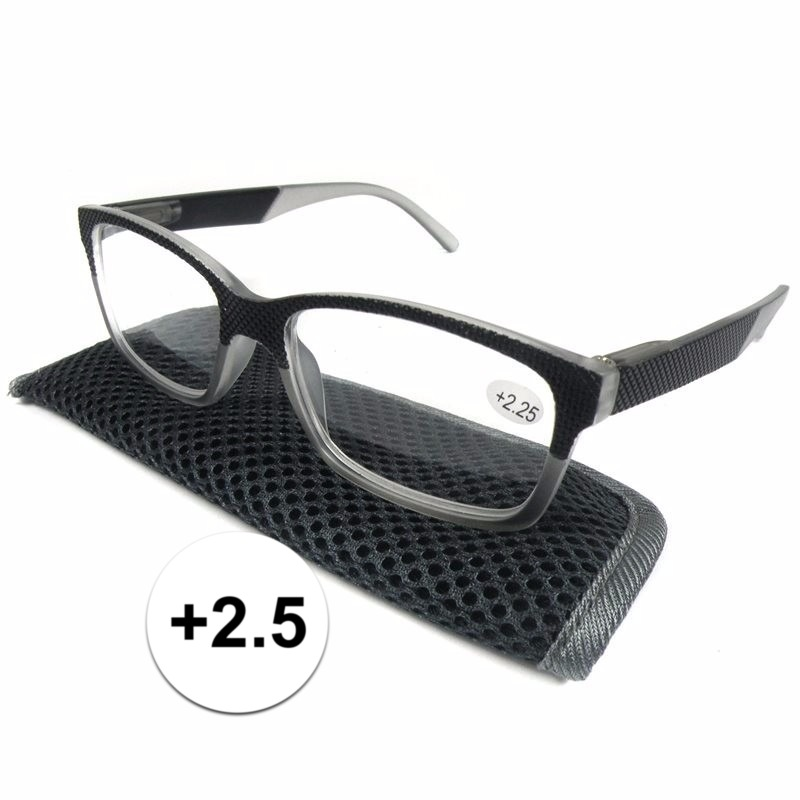 Modieuze leesbril 2.5 antraciet grijs