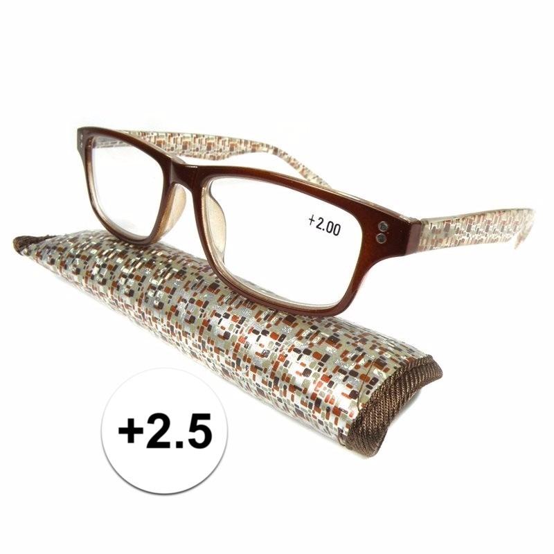 Modieuze leesbril 2.5 fantasy bruin