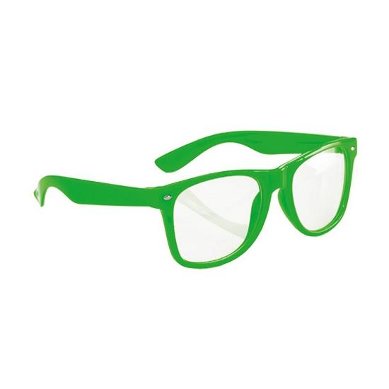 Neon bril groen