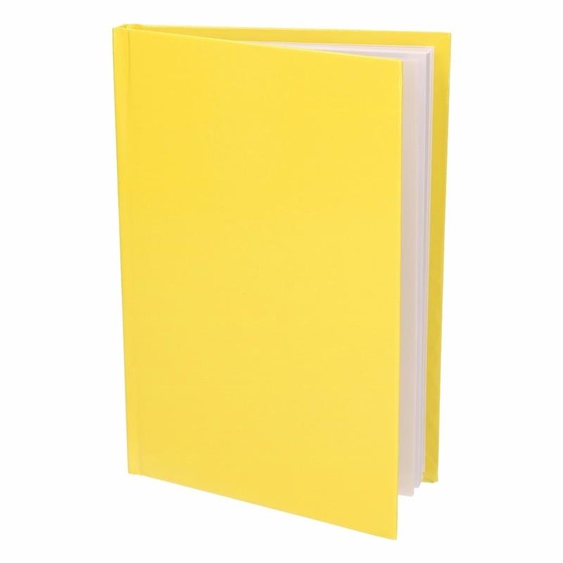 Notitieboekje harde kaft geel