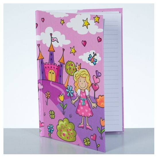Notitieboekje harde kaft prinses