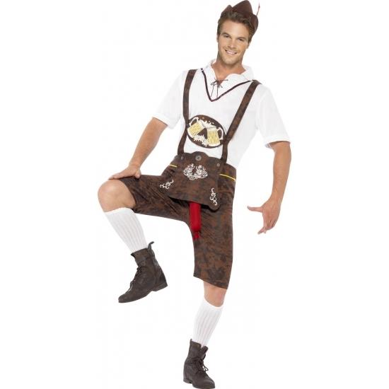 Oktoberfest Funny lederhosen kostuum voor heren