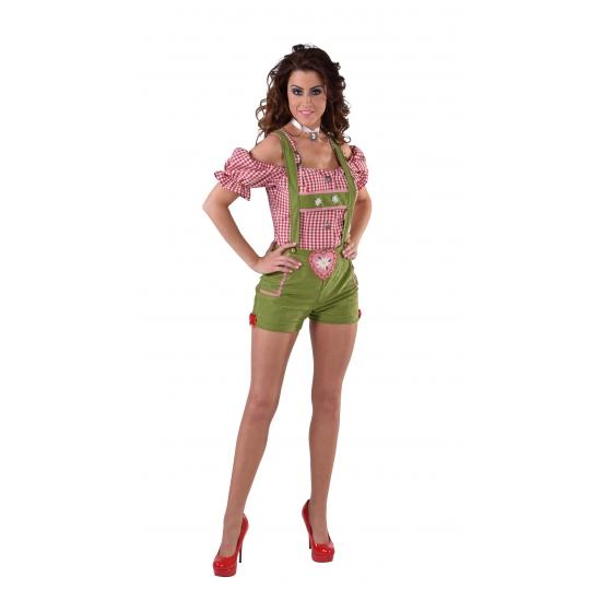 Oktoberfest Sexy lederhose groen voor dames