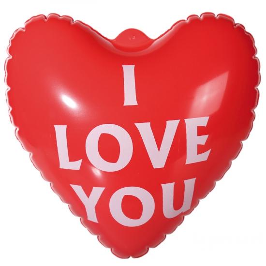 Opblaasbaar I Love You hart 22 cm