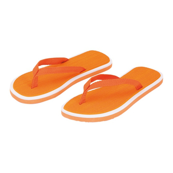 Oranje dames teenslippers
