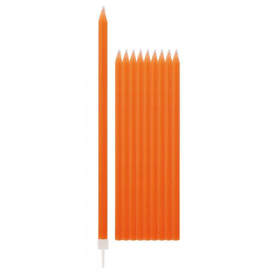 Oranje kaarsen 15,5 cm