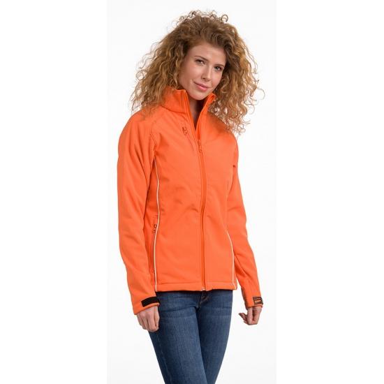 Oranje softshell damesjack