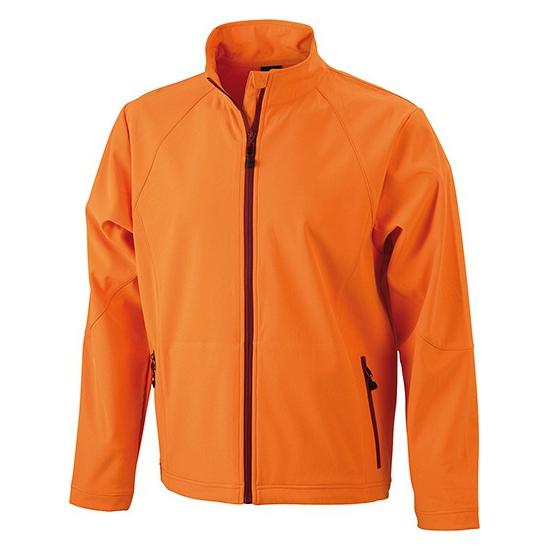 Oranje softshell heren jas