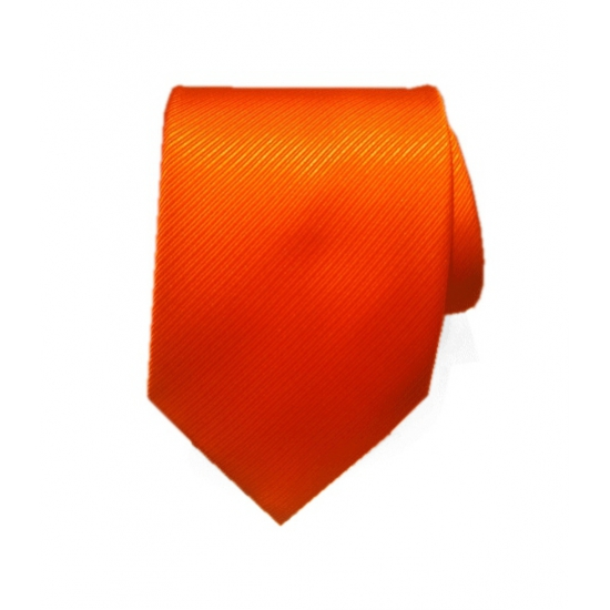Oranje stropdas 100 polyester