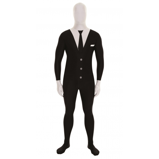 Originele morphsuit businessman zwart