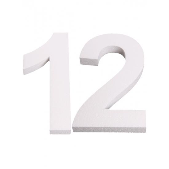 Piepschuim 12 cijfer 25 cm