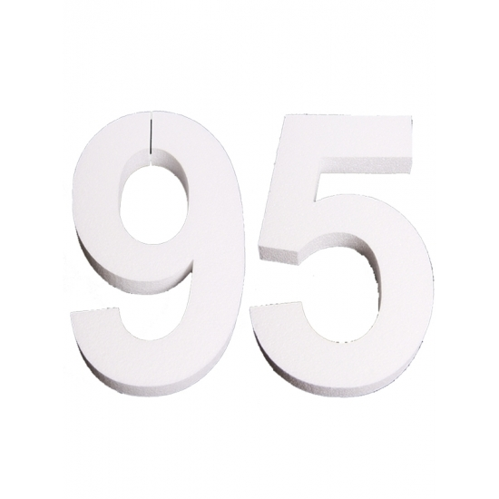 Piepschuim 95 cijfer 25 cm