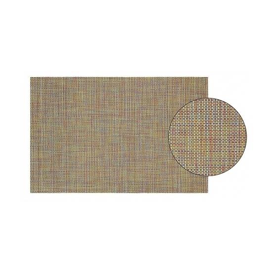 Placemat met geweven print gekleurd 45 cm