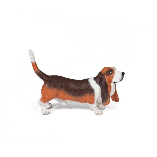 Plastic Basset hond 7,5 cm