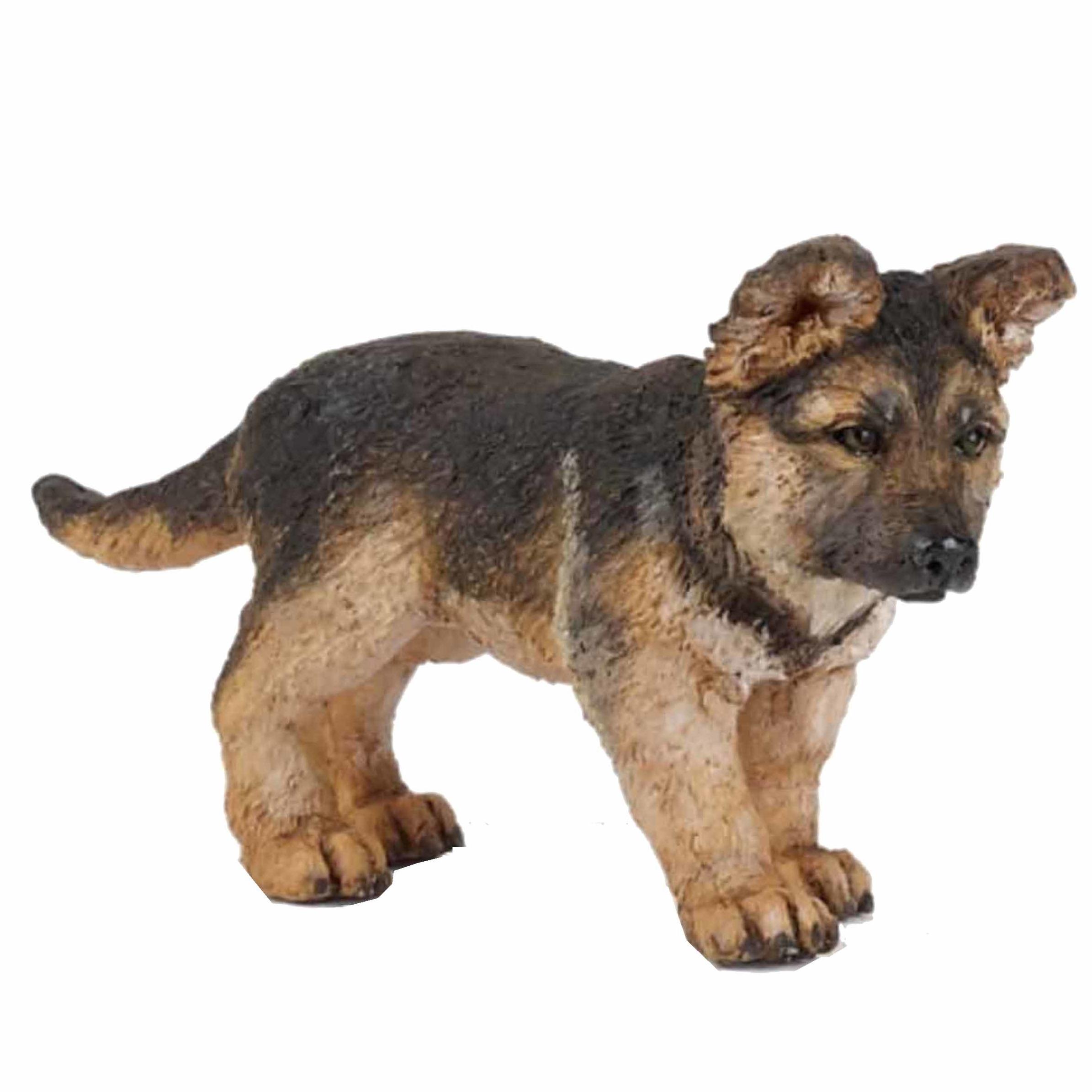 Plastic Duitse Herder pup 8 cm