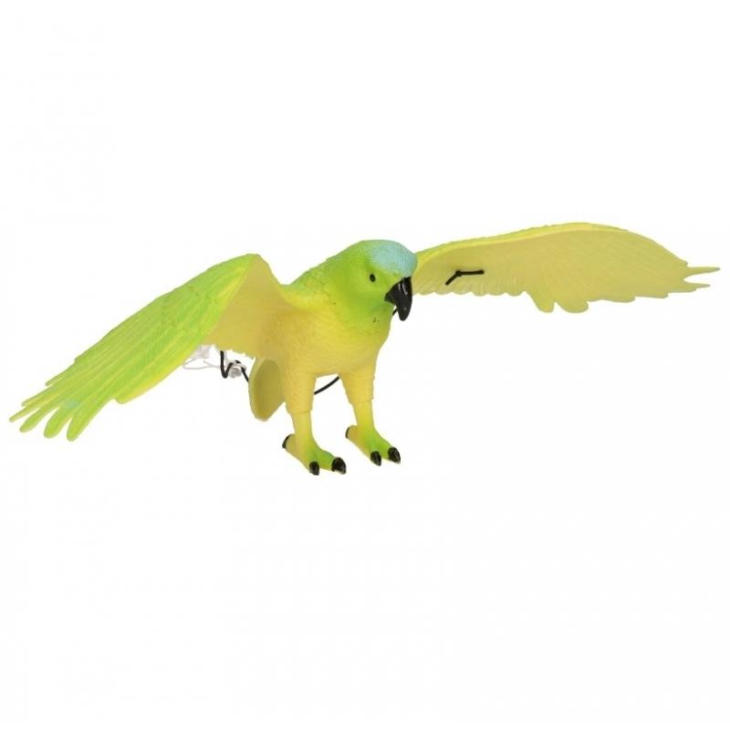 Plastic groene papegaai 33 cm