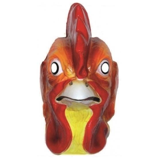 Plastic hanen masker voor volwassenen