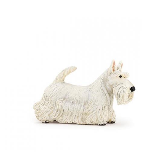 Plastic witte Schotse terrier 6 cm