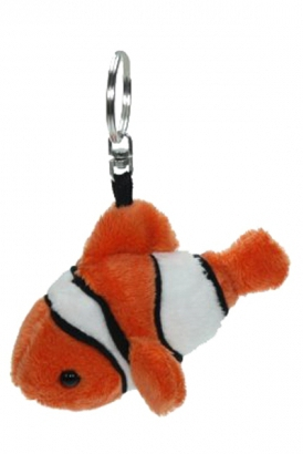 Pluche clownvis sleutelhanger