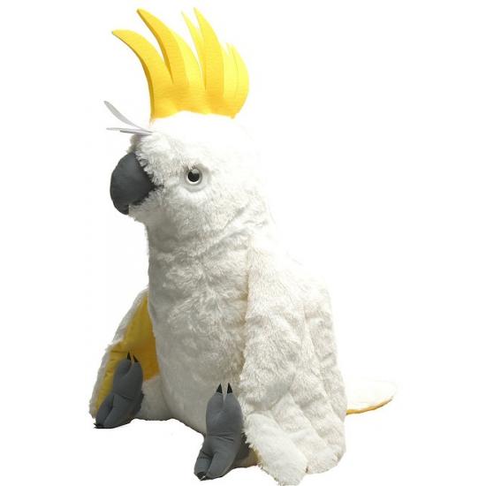 Pluche knuffel witte papegaai 76 cm