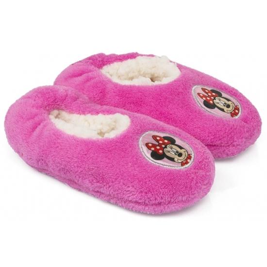 Pluche Minnie Mouse pantoffels roze