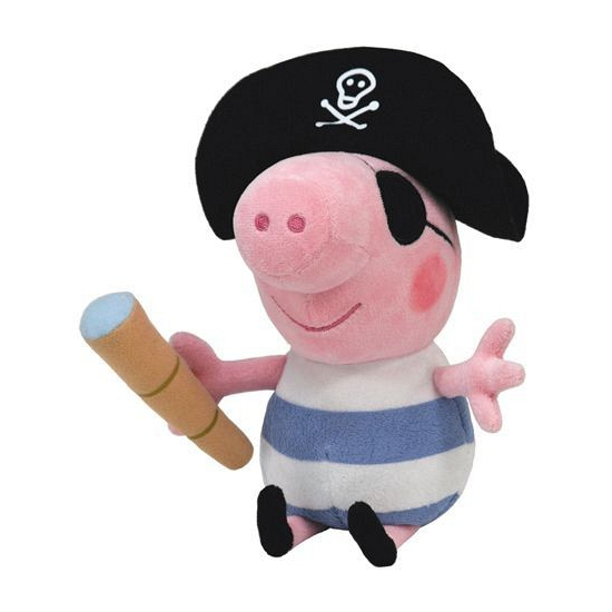 Pluche Peppa Big George piraat 23 cm
