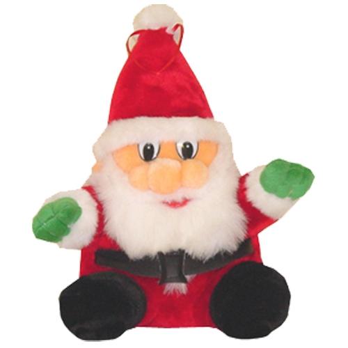 Pluche zittende kerstman 27 cm