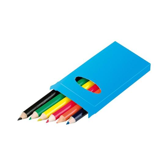 Potloden 6 stuks gekleurd