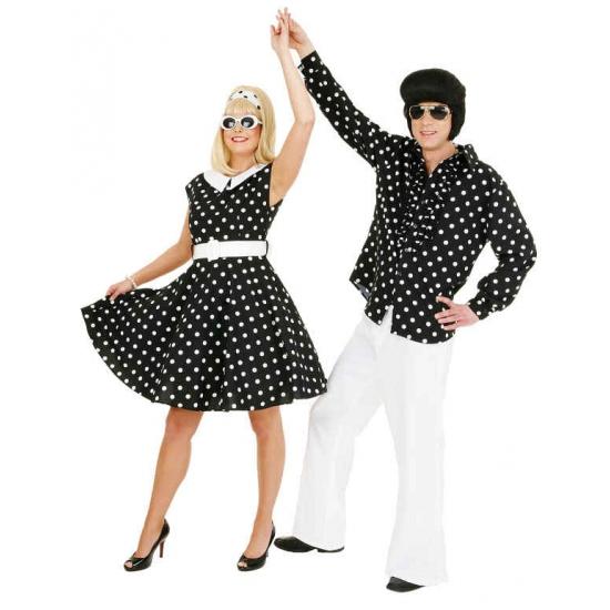 Rock n roll jurk zwart met wit