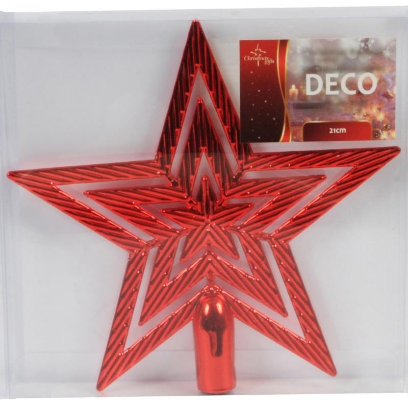 Rode piek ster 21 cm