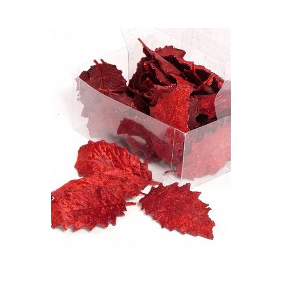 Rood hulstblad 24 stuks