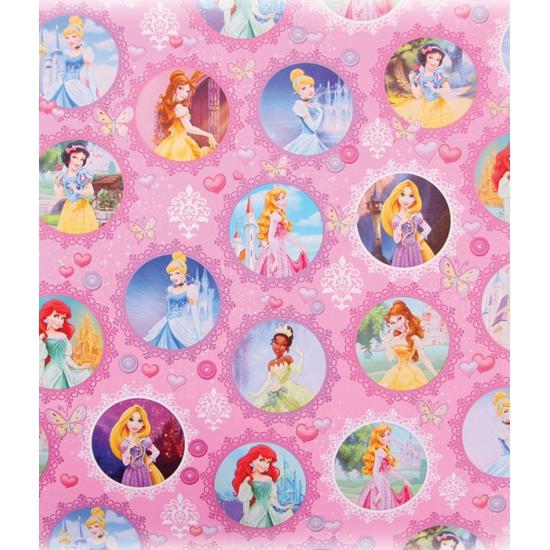 Roze Disney inpakpapier Princess 200 x 70 cm